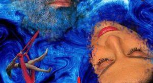 Detalle cartel Barba Azul, Escaramuza Teatro