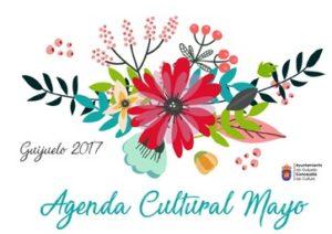 Portada Agenda Cultural Mayo. Diseño y maquetación Ana Pérez