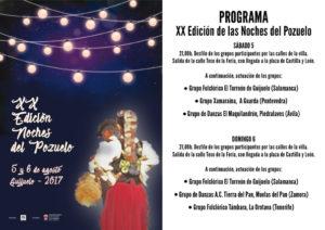 Programa XX Edición Noches del Pozuelo. Diseño y maquetación Ana Pérez.
