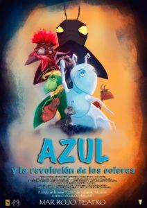 Cartel_Azul y la revolución de los colores. Mar Rojo Teatro