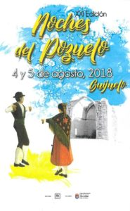 Cartel Anunciador XXI edición Noches del Pozuelo.  Diseño Ana Pérez